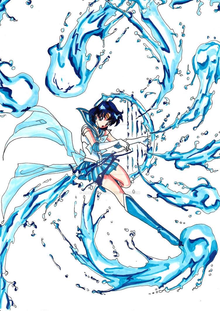 Sailor Mercury-Attack 2 by AmarineCraft
