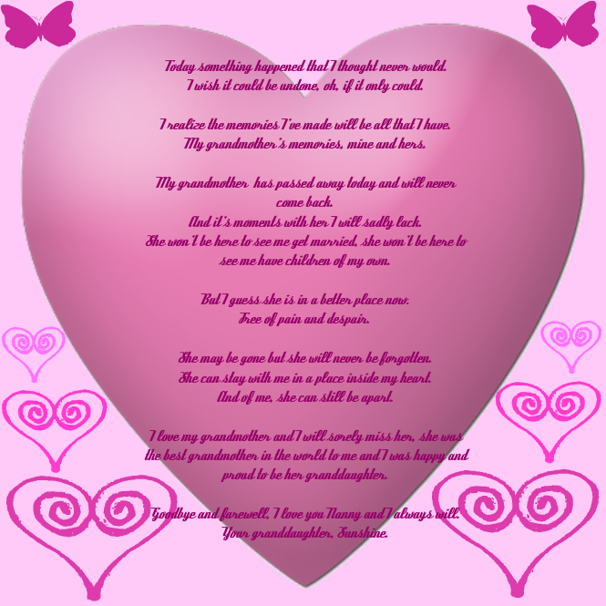 My farewell poem to grandma by Icerose-Firelilly on DeviantArt
