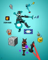 JunkBug Style Megaman by CapricornGuy