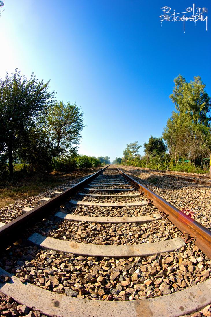Railway track by farhadtantra
