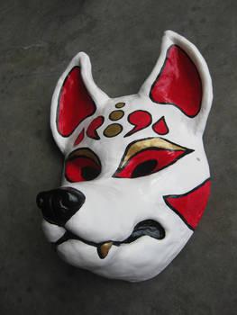 Resin Kitsune mask 1