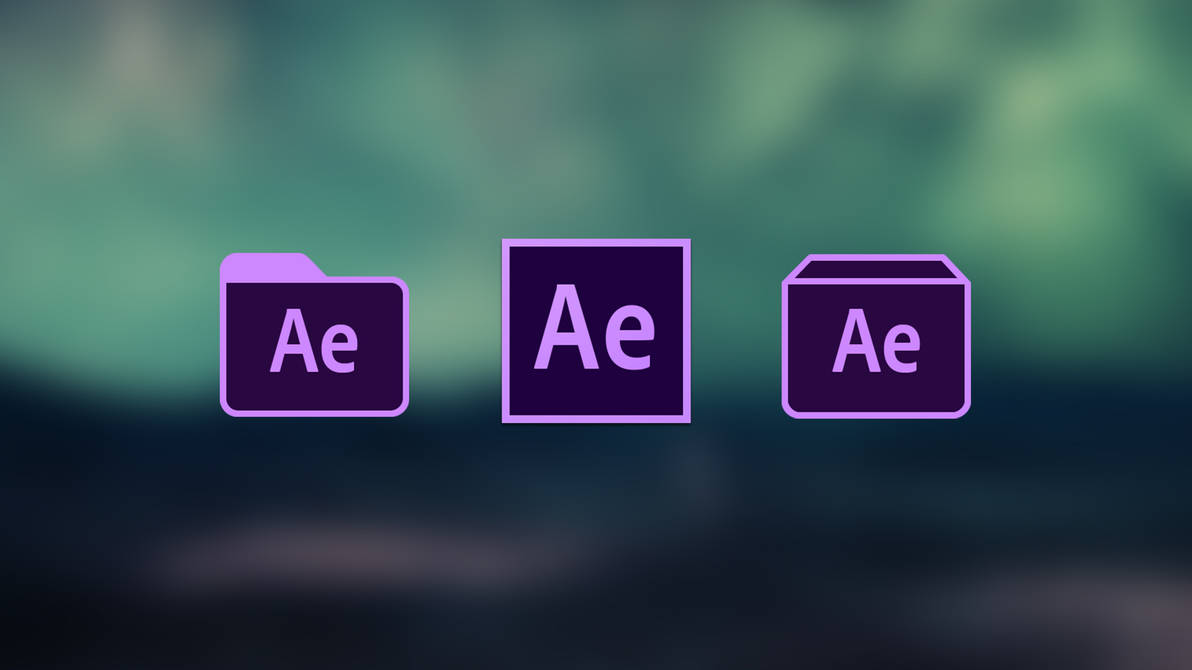 Original Adobe After Effects CC 2019 Icons by