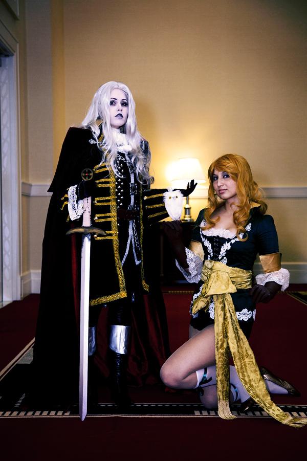 castlevania - alucard x maria by klytae