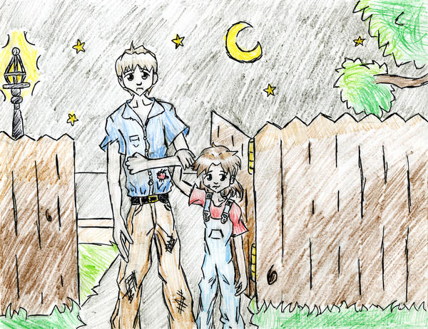 Scout and Boo by Chibi- To Kill A Mockingbird Jem Drawing