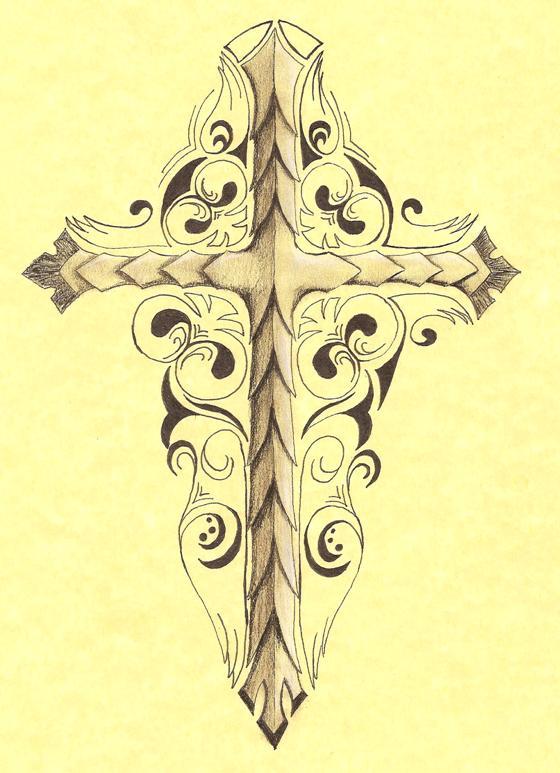 decorative cross by k allie - Decorative Cross