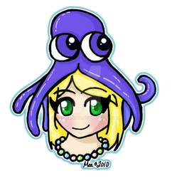 Clara and her Squid Hat