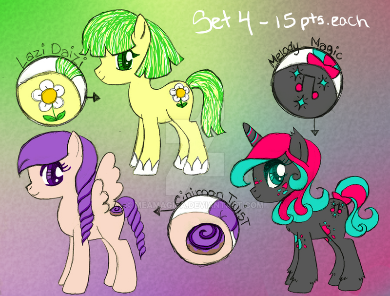 MLP Adatables Set4 CLOSED by mea0113 on DeviantArt