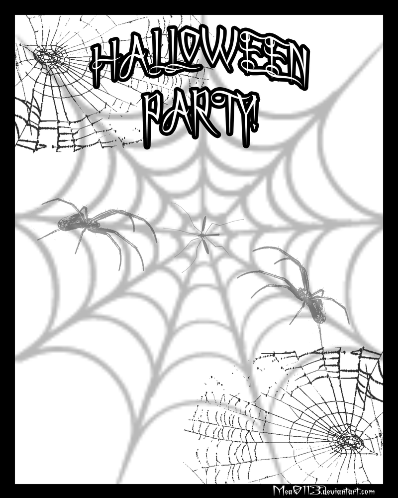 blank halloween invite poster by mea0113 on deviantart