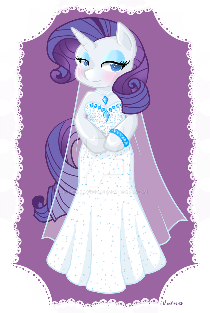 Rarity Wedding dress by mea0113 on DeviantArt