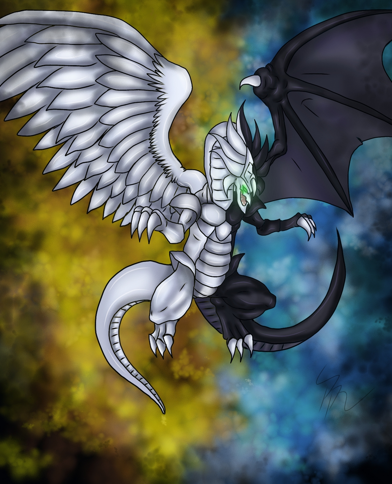 light and darkness dragon by kodokunakurookami on deviantart