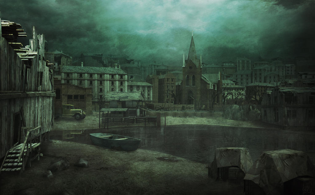 Innsmouth Waterfront Hp Lovecraft Concept Art By