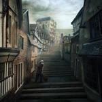 Rue d'Auseil - The Music of Erich Zann - Lovecraft by mcrassusart