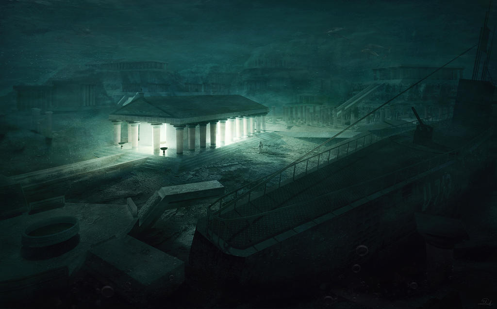 The Temple - Lovecraftian Concept Art by mcrassusart