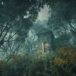 The Tomb, daytime - H.P. Lovecraft - Concept Art by mcrassusart
