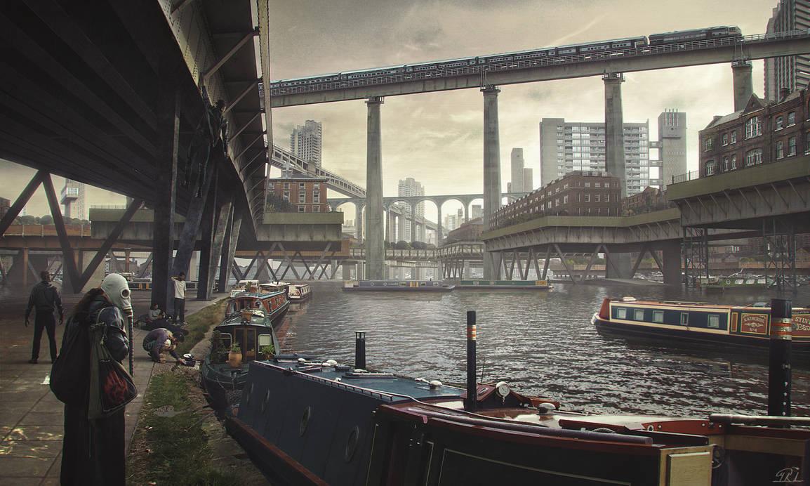 Flooded London Alternate History by mcrassusart
