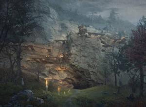 Beyond the Oaks - Cave Entrance