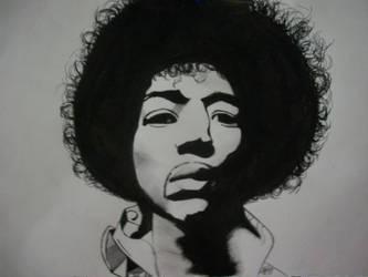 Jimi Hendrix by yuki-mika