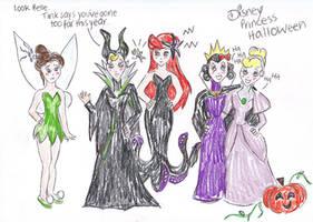 disney princess: halloween by cattybonbon