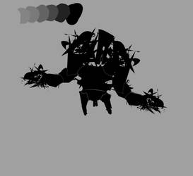 Robot concept Start WIP by Shydrow