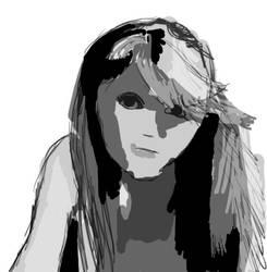 Ashley Portrait WIP by Shydrow