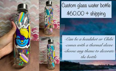 Custom water bottle commissions OPEN