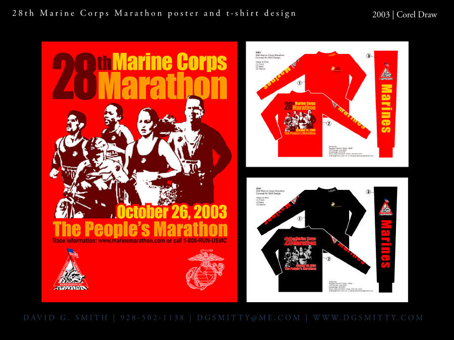 28th marine corps marathon poster and t shirt by dgsmitty for Marine corps marathon shirt 2017