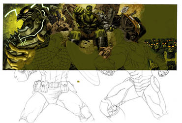 Marvel Box art in progress 3 by Devilpig