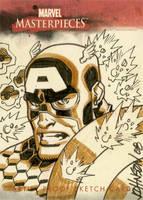 UD sketchcard Captain America by Devilpig