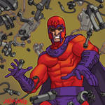Old Marvel Magneto tradingcard