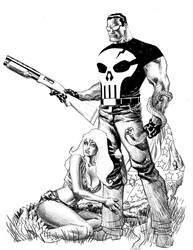 Punisher cover no.71 Step 3 by Devilpig