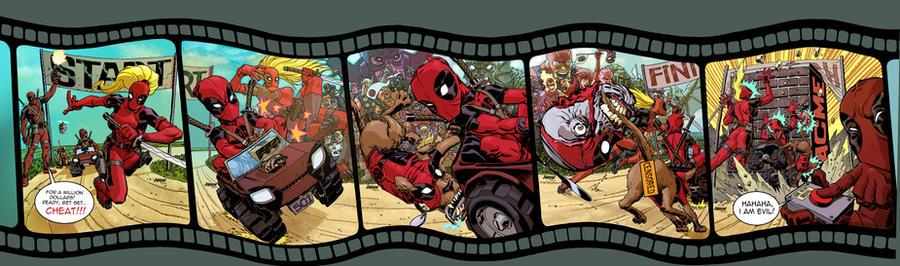 Deadpool Corps. 1 thru 5 by Devilpig