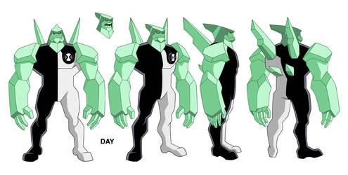 Ben 10 Diamond Head design by Devilpig