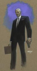 Agent Graves paint sketch by Devilpig