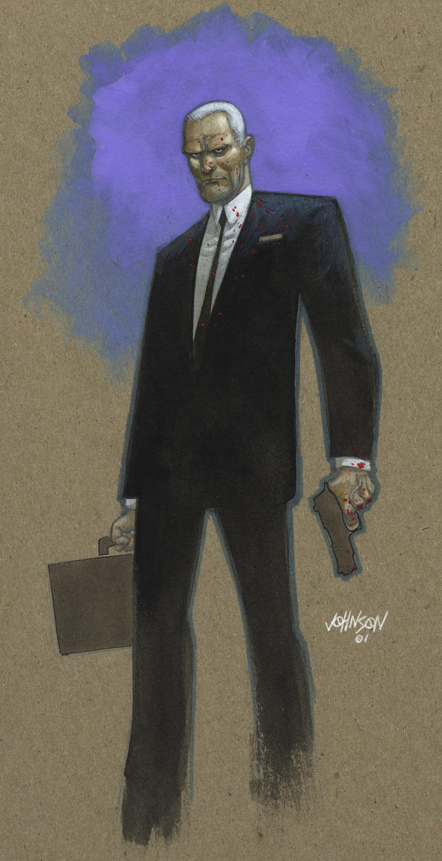Agent Graves paint sketch by Devilpig