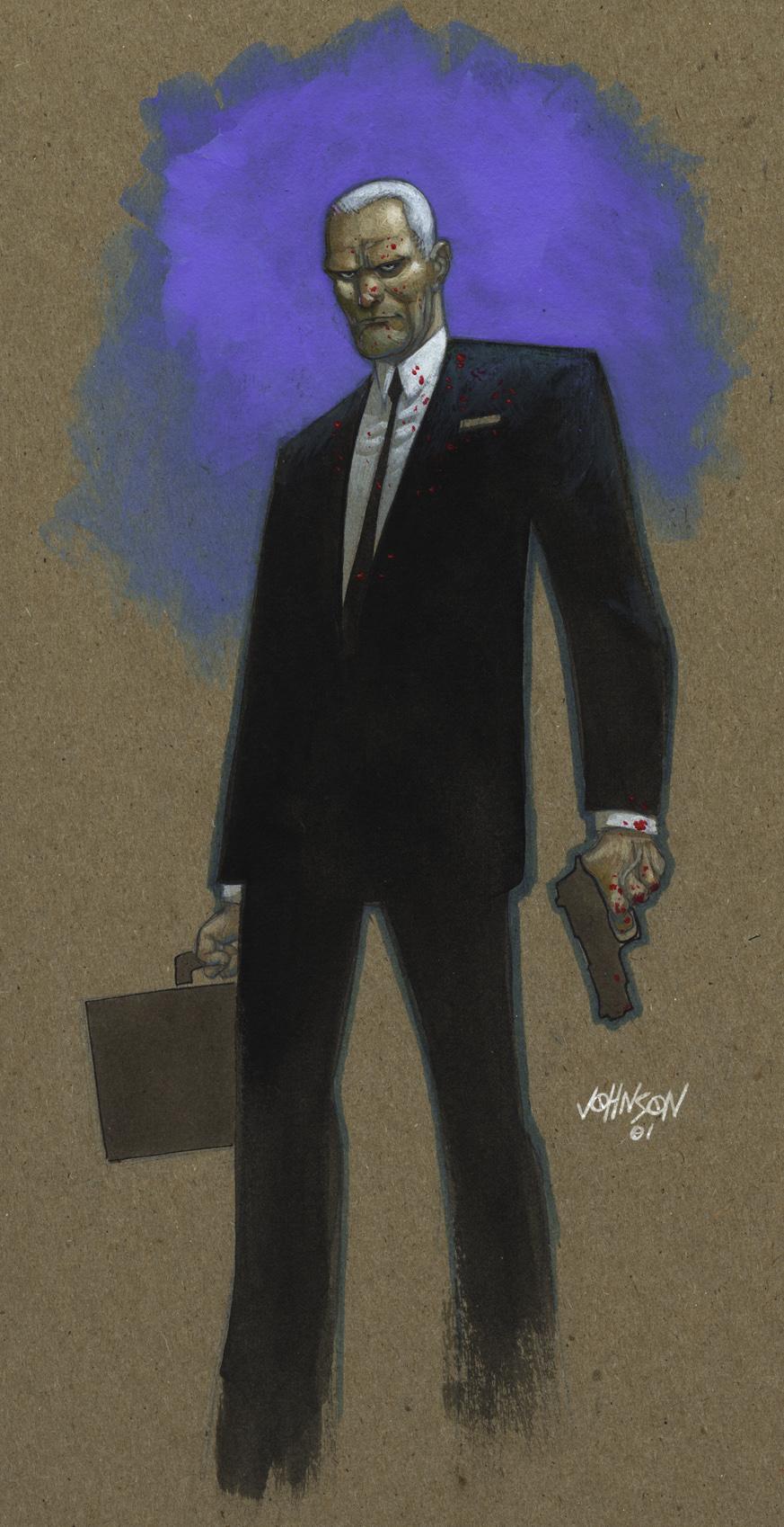 Agent Graves paint sketch