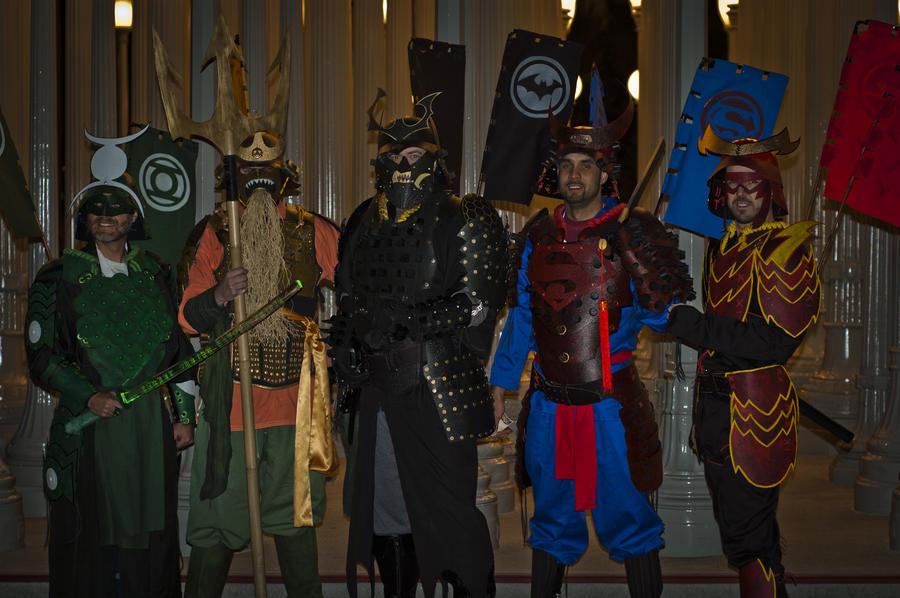 Halloween JLA Samurai by Devilpig