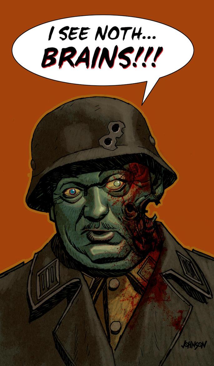 Comic Twart Sergeant Shultz by Devilpig