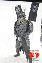Batman Samurai Costume again by Devilpig
