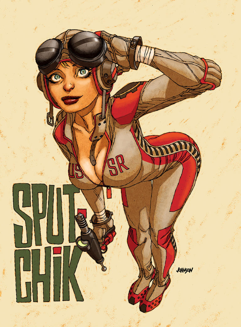 Sputchik with ray gun by Devilpig