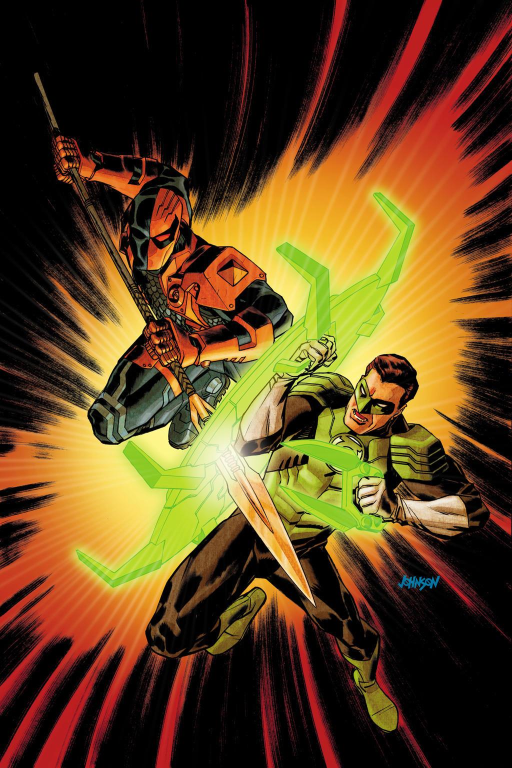 Deathstroke VS Green Lantern by Devilpig on DeviantArt | 1024 x 1536 jpeg 462kB