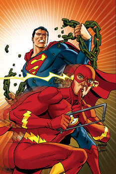 Superman and Flash variant cover