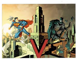 Batman and Superman variant covers
