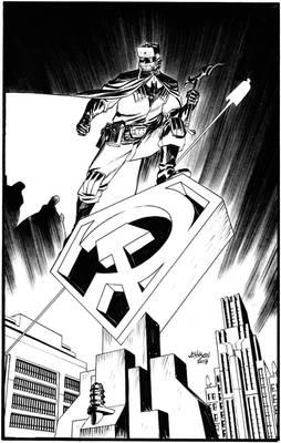 Superman-Red Son. Batmankoff pin-up