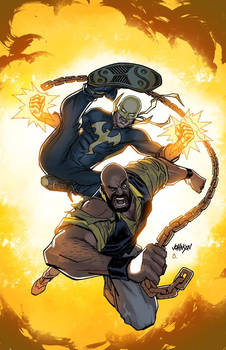 Powerman and Iron Fist variant cover