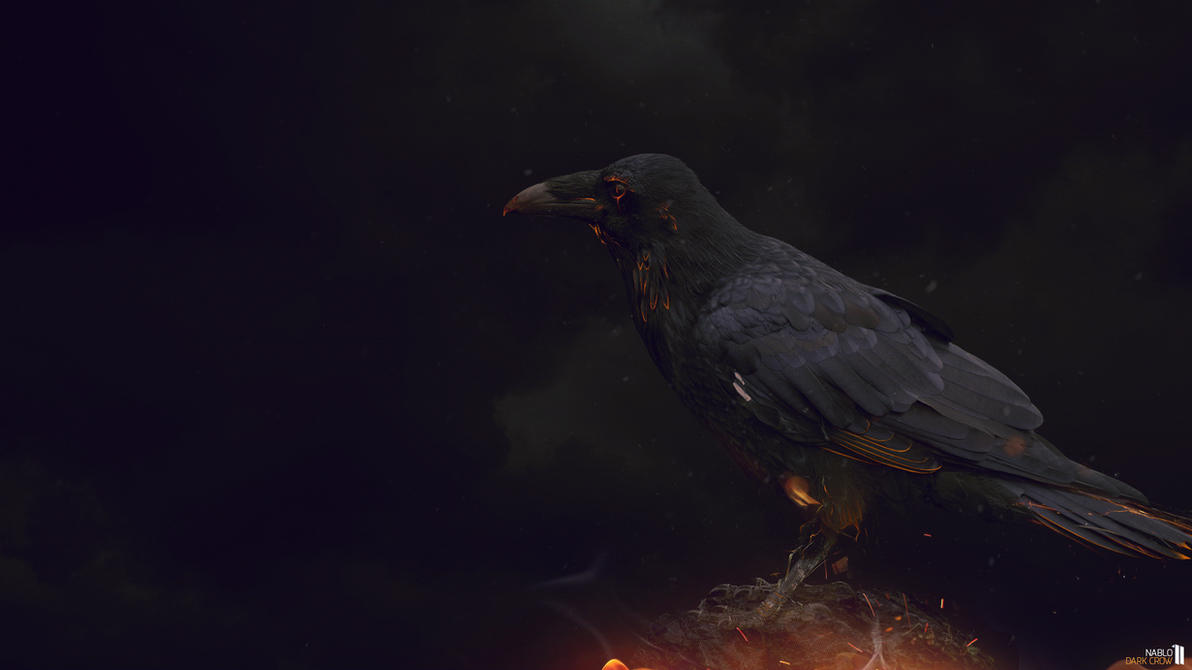 Wallpaper Dark Crow By Nablo92