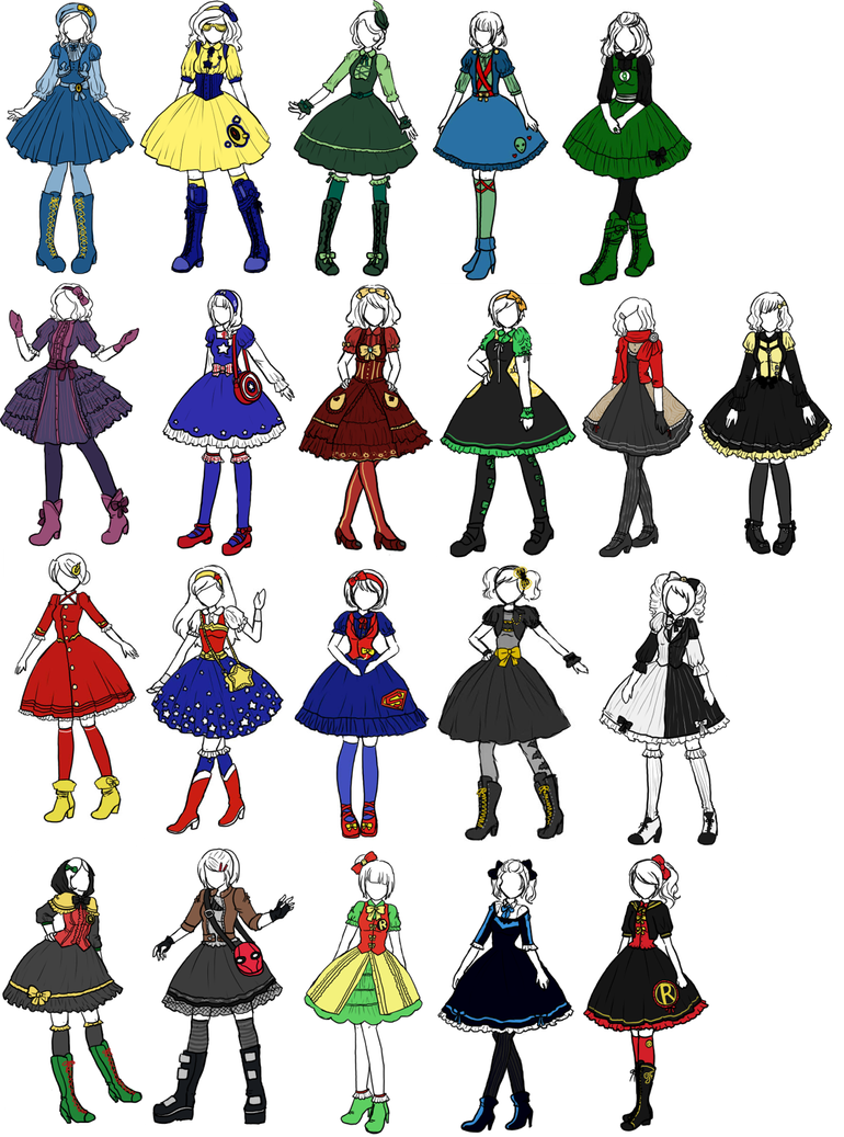 Superhero x Lolita designs by sirenlovesyou on DeviantArt