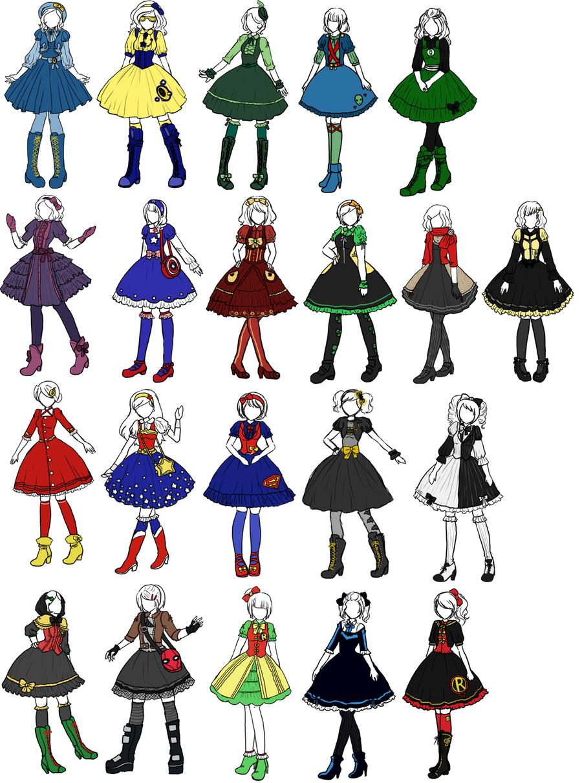 Cartooning Ultimate Character Design Book : Superhero lolita designs by sirenlovesyou on deviantart