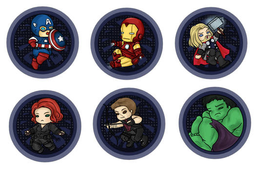 The Avengers -button-