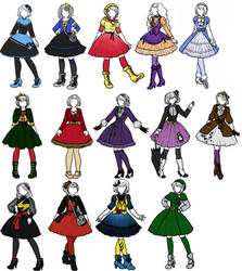 Superhero x Lolita designs 3