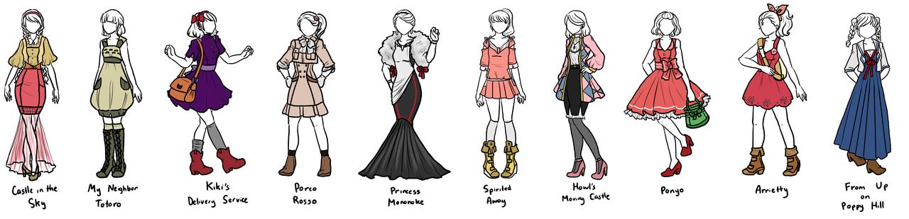 Studio Ghibli Designs By Sirenlovesyou On DeviantArt